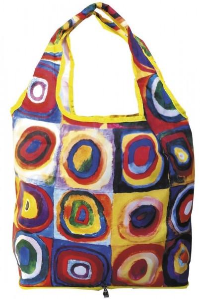 """Faltbare Einkaufstasche """"Wassily Kandinsky - Farbstudie"""""""
