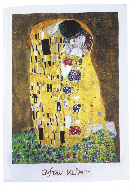 """Geschirrtuch """"Gustav Klimt - Der Kuss"""""""