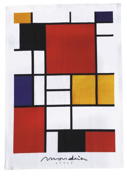 "Geschirrtuch ""Mondrian Style - Bauhaus"""